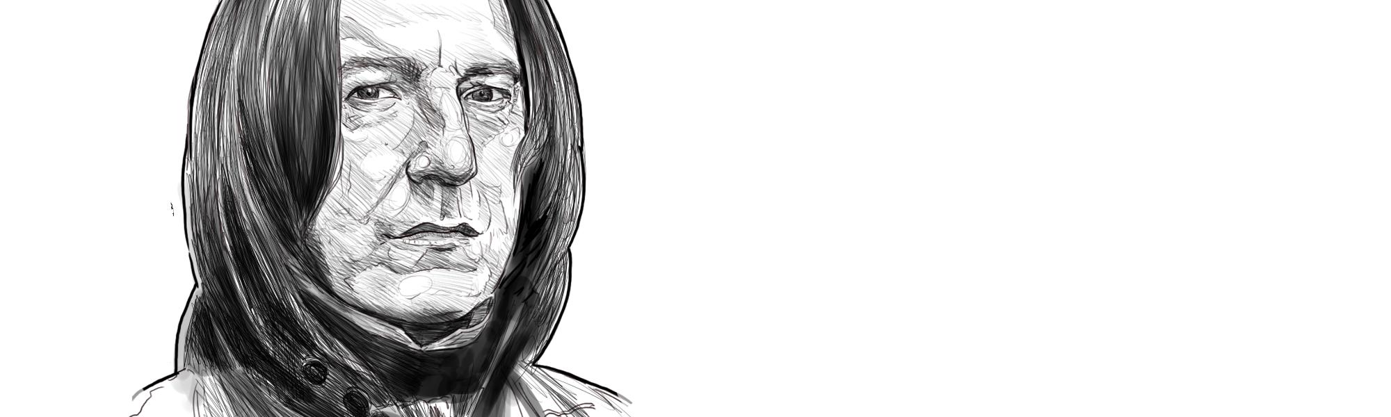 Digital Custom Illustration of Professor Snape