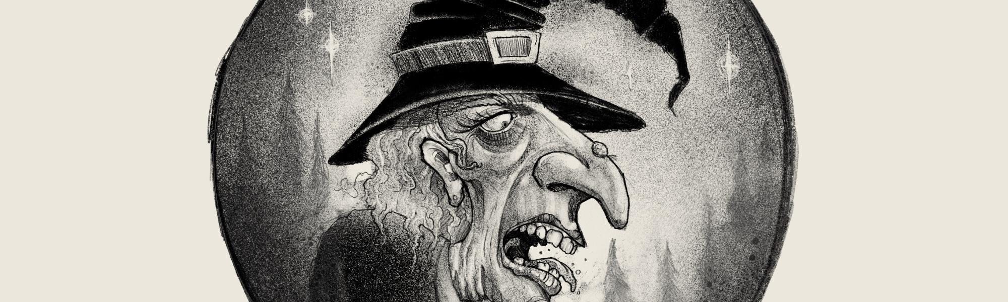 Digital Custom Illustration of a Witch